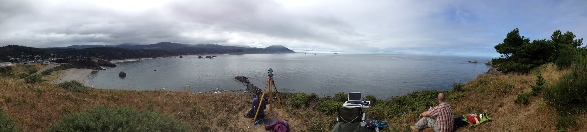 Port Orford Bay panorama