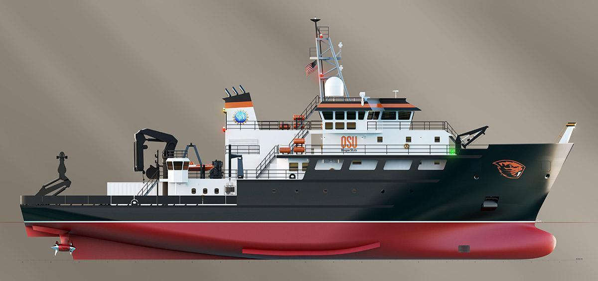 research vessel drawing