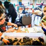 Cascades to Coast students invertebrate lab