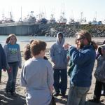 Driftwood school students taking water samples for Blue Water Task Force