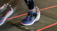 Super-cushioned running shoes provide less shock absorption