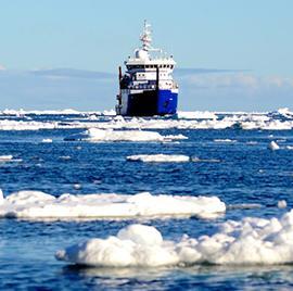 ship in the arctic ocean